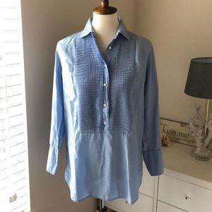 \J. Crew\• Soft Chambray Popover Shirt